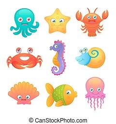 Cute sea animals