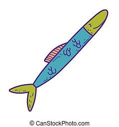 cute sea fish icon
