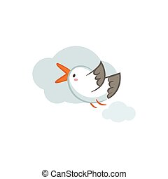 Seagull - Cute Seagull vector design