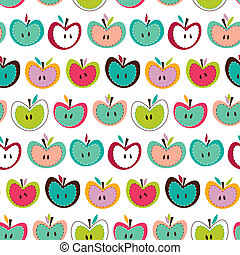 cute seamless apple pattern