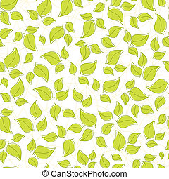 Cute seamless background with leaves - Cute seamless...