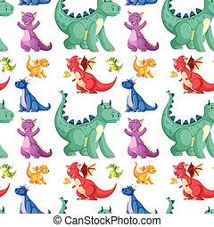 cute seamless dinosaur background