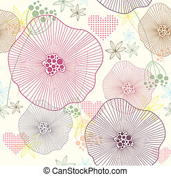Cute seamless pattern - Cute colorful seamless pattern with...