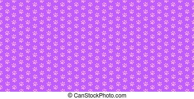 Cute seamless pattern of animal pawprints in pink and lilac...