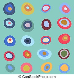 Cute seamless pattern with bright concentric circles