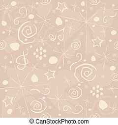 Cute Seamless Pattern with hand drawn elements