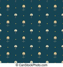 Cute seamless pattern with hand-drawn fantasy flowers.
