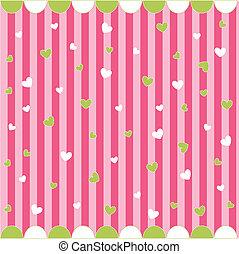 Cute seamless pattern with hearts - Cute seamless pattern...
