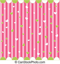 Cute seamless pattern with hearts - Cute seamless pattern...