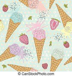 Cute seamless pattern