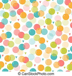 Cute seamless pattern with soap bubbles for kids. Background for children party. Birthday card