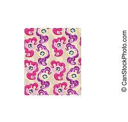 Cute seamless pattern with unicorns