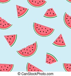 Cute seamless pattern with watermelon