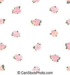 cute seamless texture with tiny roses on white background