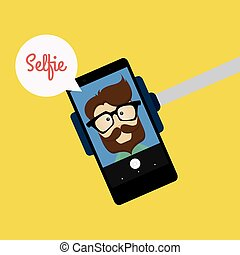Cute Selfie background - abstract selfie background with...