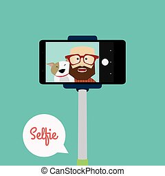 cute, selfie, fundo