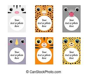 Cute set of animal frames for children.