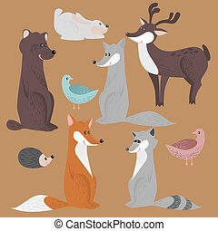 Cute set of forest animals