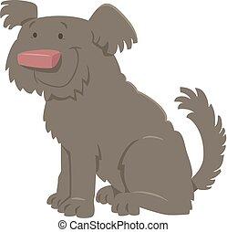 cute shaggy cartoon dog - Cartoon Illustration of Cute...