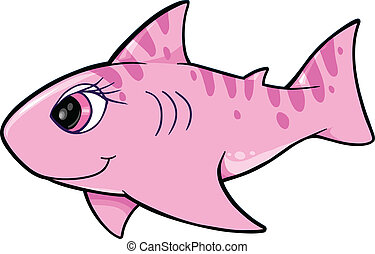 Cute Shark Vector Illustration