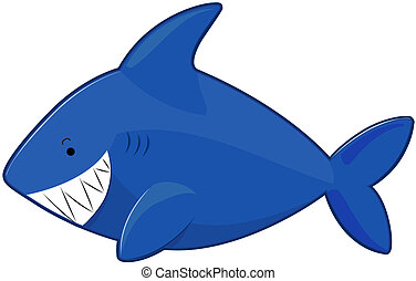 Cute Shark with Clipping Path