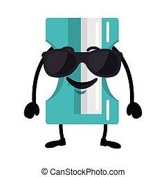 cute sharpener kawaii character vector illustration design
