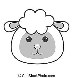 cute sheep animal kawaii style