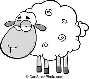 Cute Sheep Cartoon Mascot Character