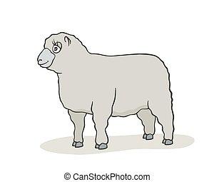 Cute sheep cartoon.