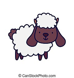 cute sheep farm animal cartoon