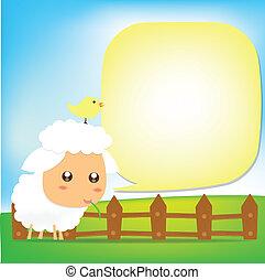 Cute Sheep text box 002