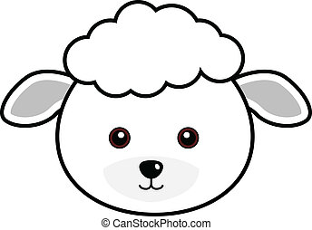 Cute Sheep Vector - Cute animal faces in (One of 25 of...