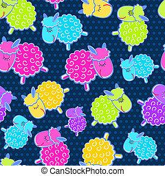 Cute Sheeps Seamless Pattern