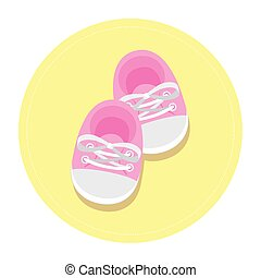 cute shoes baby in frame circular