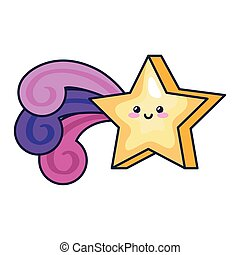 cute shooting star magic kawaii style