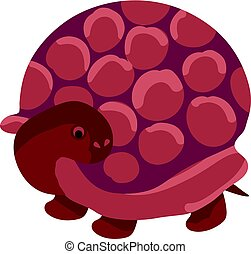 cute simple brown turtle cartoon vector illustration