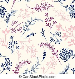 Cute simple rustic wallpaper pattern with florals