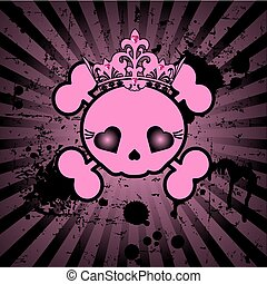 Cute Skull with crown