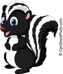 Cute skunk cartoon - Vector illustration of Cute skunk...