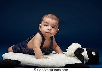 Cute small baby boy