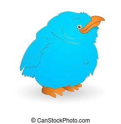 Cute Small Blue Bird
