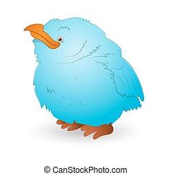 Cute Small Cartoon Bird
