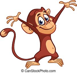 Cute small chimpanzee monkey