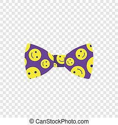 Cute smile bow icon, flat style
