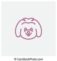 cute smile koala  modern line logo design