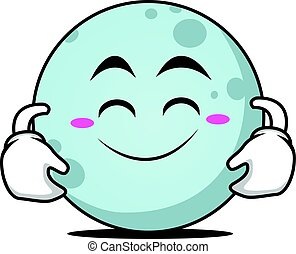 Cute smile moon face character
