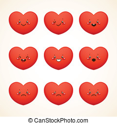 Cute smiley (heart)