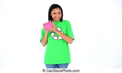 Cute smiling environmental activist