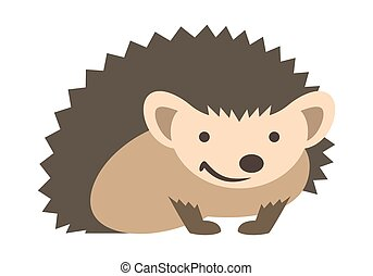 Cute smiling hedgehog kids cartoon illustration