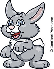 Cute smiling rabbit 2 - Illustration of the cute smiling...